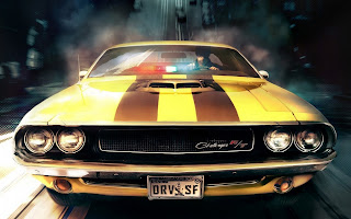 Muscle Yellow Car