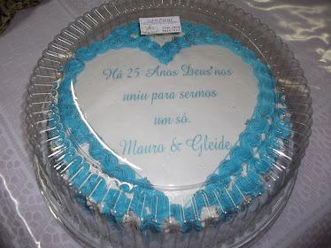 bolo de aniversario de casamento