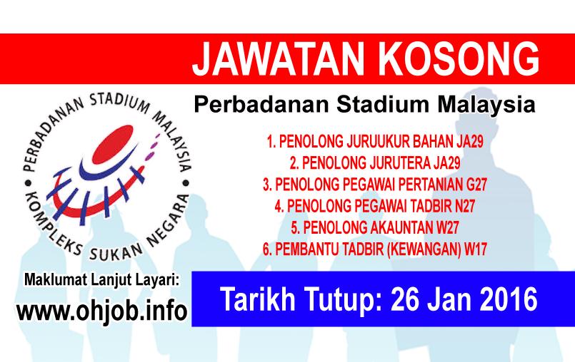 Jawatan Kerja Kosong Perbadanan Stadium Malaysia logo www.ohjob.info januari 2016