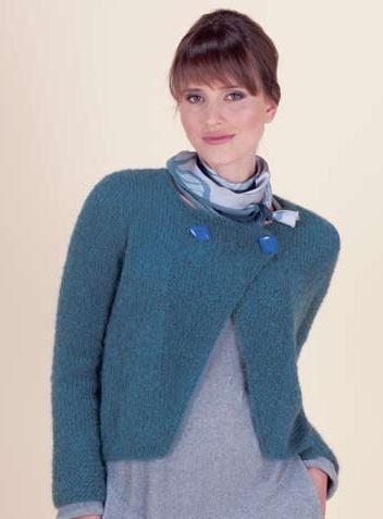 Crafty Frog Free Pattern 12 Ply Mohair Cardigan