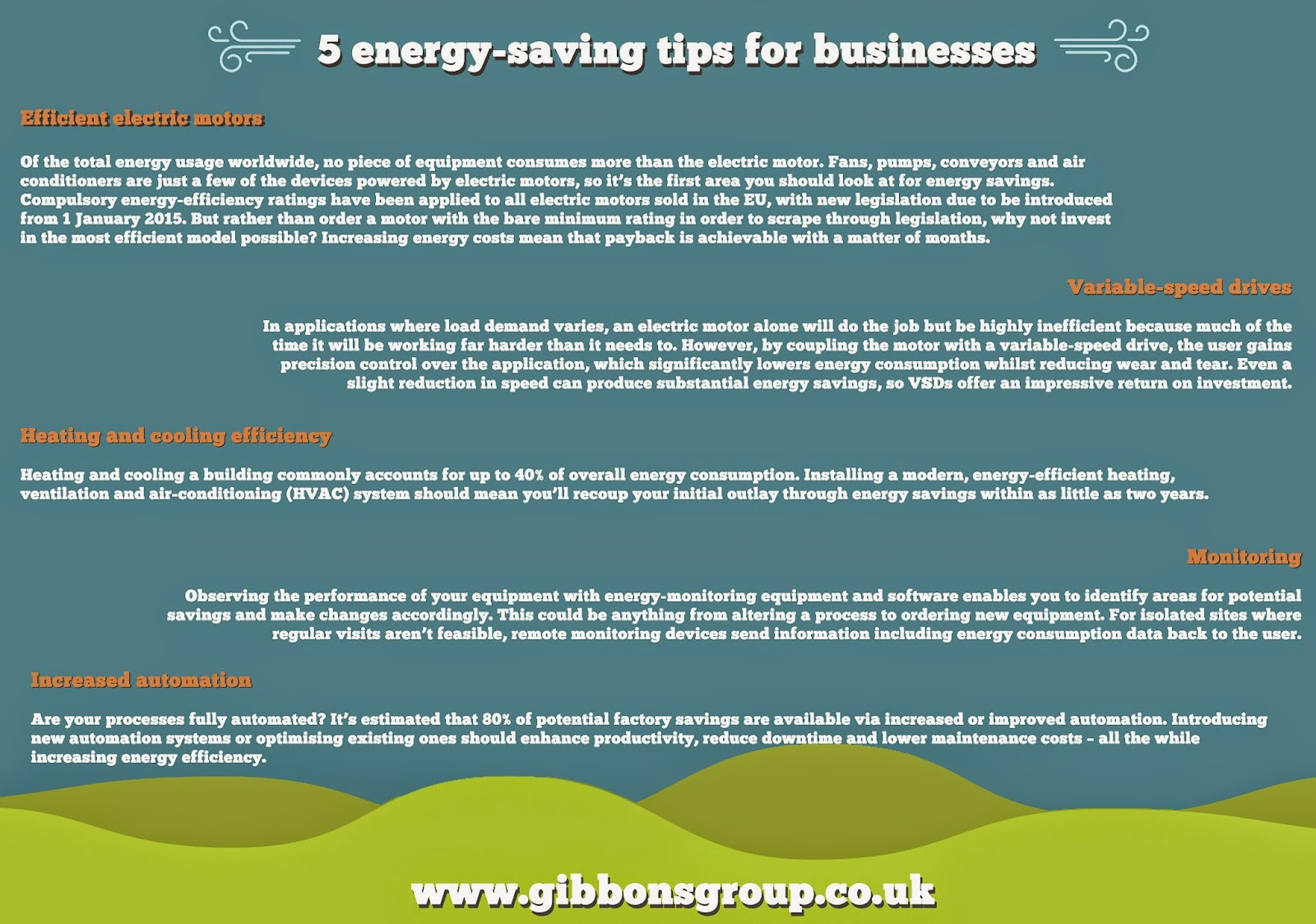 5 energy-saving tips for businesses - The Gibbons Group