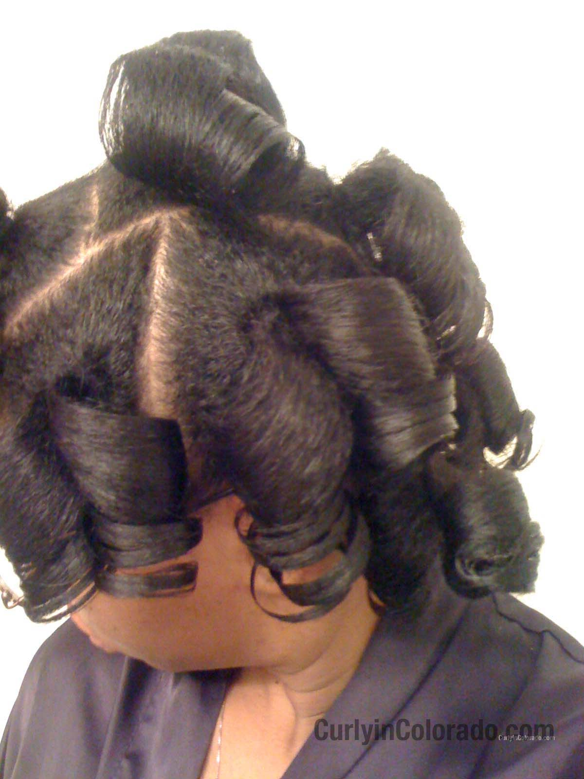 Roller Set Wrap Natural Hair http://www.curlyincolorado.com/2011/12/ponytail-roller-set-on-natural-hair.html