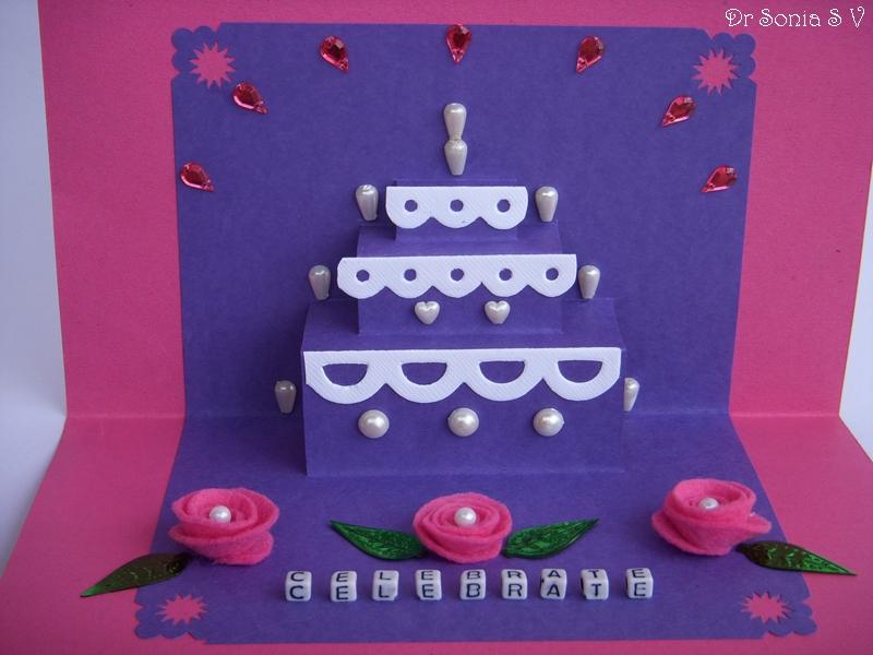 Simple Pop Up Cake Card Tutorial Project Tutorials