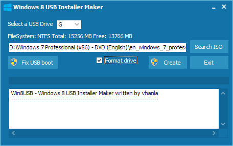 Win8USB: Install Windows 8 from USB flash drive boot disk