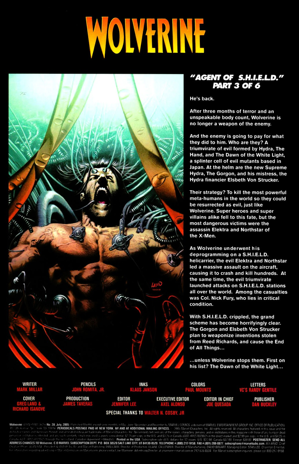 Read online Wolverine (2003) comic -  Issue #28 - 2