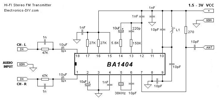 HI-FI Stereo transmitter with BA1404