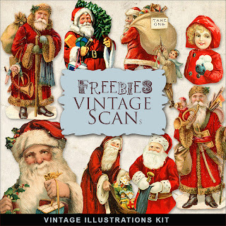 Scrapbook Christmas Vintage free illustrations by farfarhill