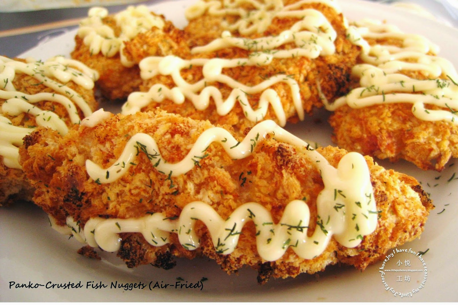 Little joy factory air fried panko crusted fish nuggets for Airfryer battered fish