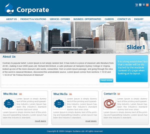 Corporate Responsive Drupal Theme