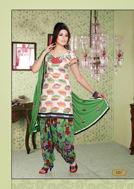 Royal Resham Work Cotton Churidar Salwar Kameez