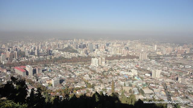Vista panorâmica de Santiago