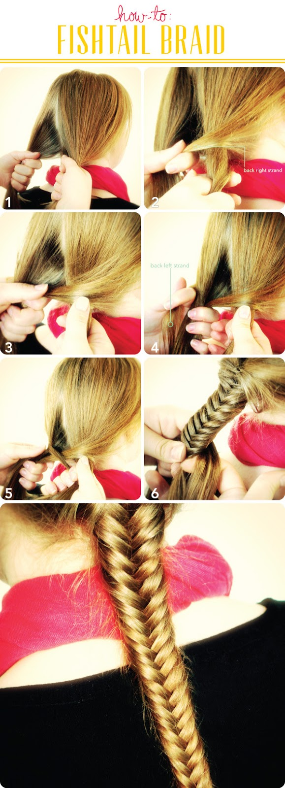 a simple fishtail braid hair tutorial
