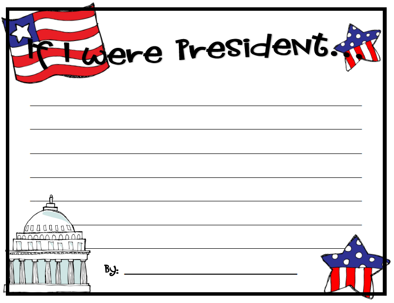 Presidents Day Printable Worksheets also If I Were President Worksheet ...