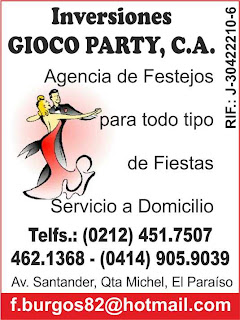 INVERSIONES GIOCO PARTY, C.A. en Paginas Amarillas tu guia Comercial