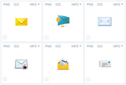 Иконки почты
