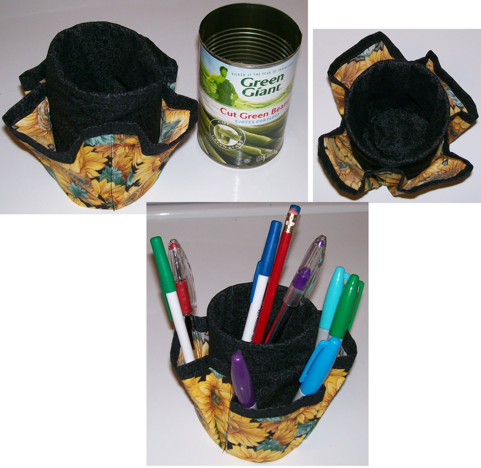 Go Green Recycled Can Desk Organizer