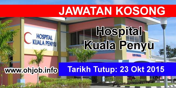 Jawatan Kerja Kosong Hospital Kuala Penyu logo www.ohjob.info oktober 2015