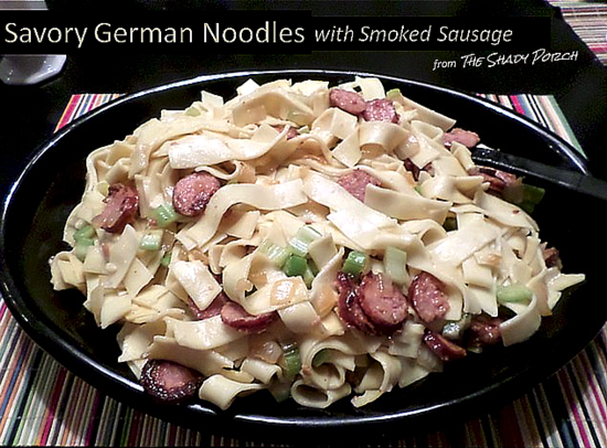 German Noodles with Smoked Sausage
