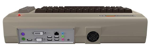nuovo Commodore 64 - connettori posteriori