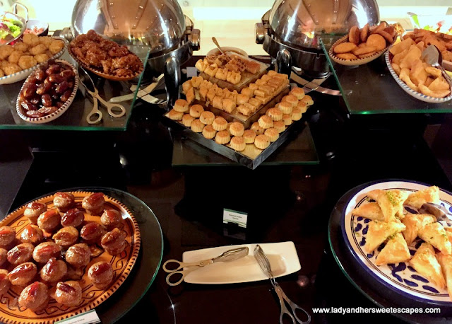 Arabic sweets at Ginger in Park Rotana