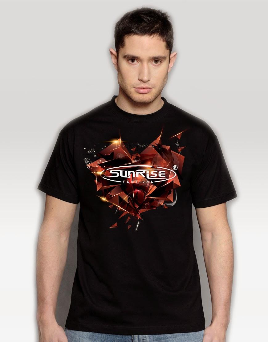 Sunrise - koszulka czarna męska