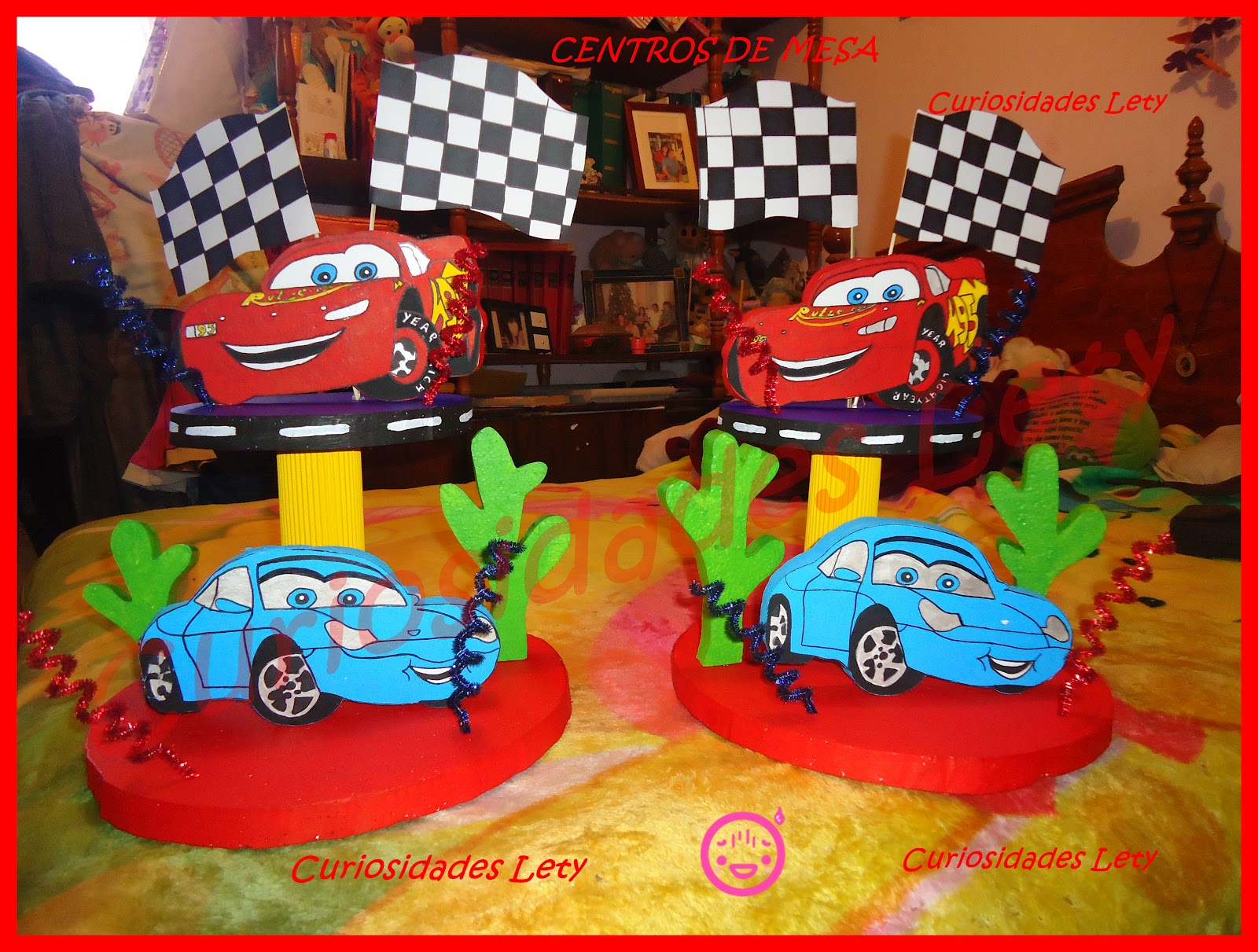 Cars Centro De Mesa De Unicel