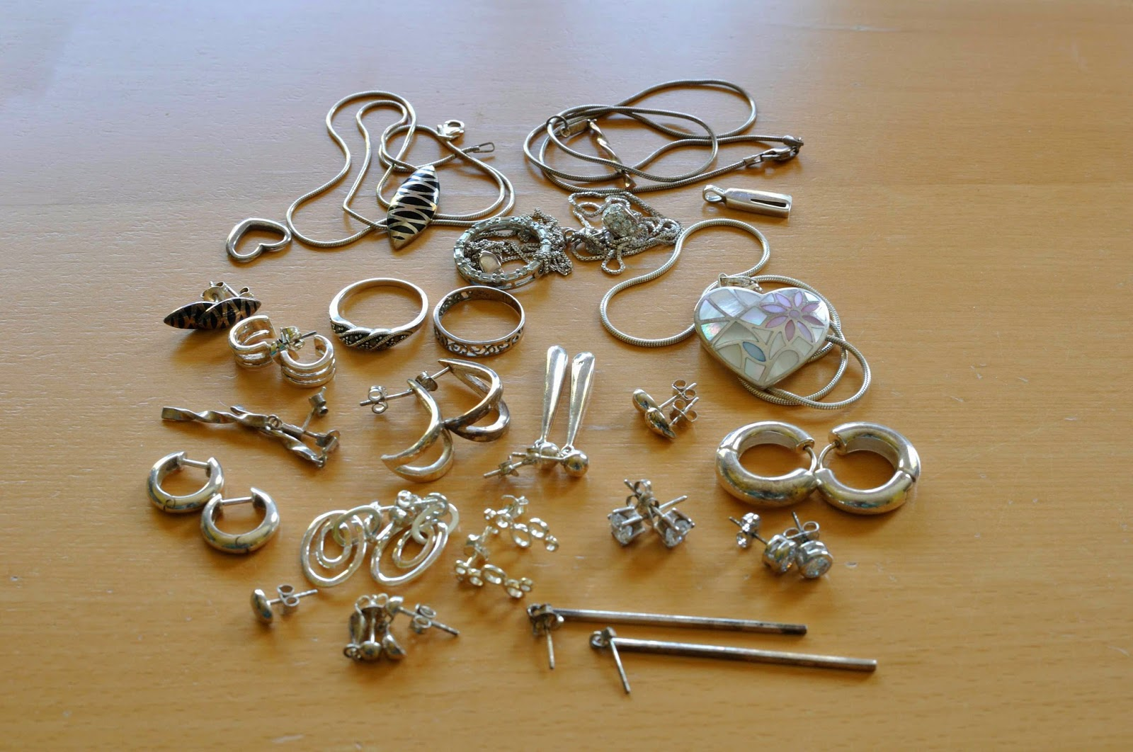 Old silver jewellery
