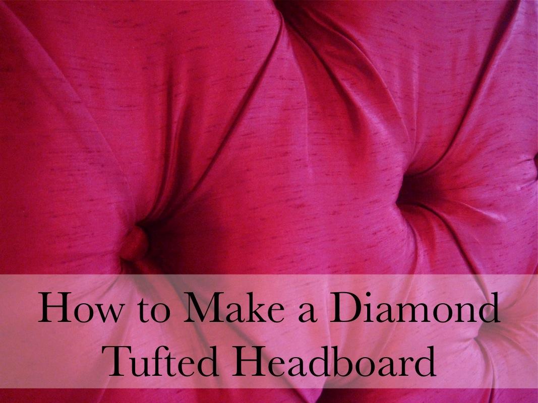 hodge:podge~How to Make a Diamond Tufted Headboard~