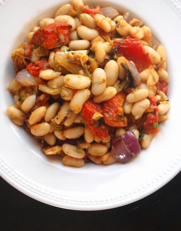 Warm Cannellini Bean Salad with Roasted Tomato and Fennel - Always ...