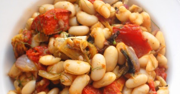 Warm Cannellini Bean Salad with Roasted Tomato and Fennel ...