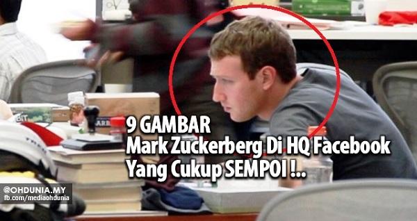 Mark Zuckerberg di HQ Facebook yang cukup sempoi