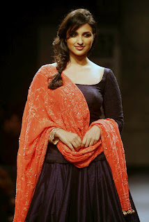 Parineeti Chopra in Open Back Dress Stills Ramp walk stills at Wills India Fashion Week