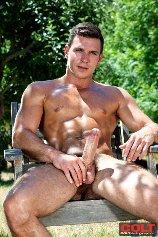 naked young male in barn