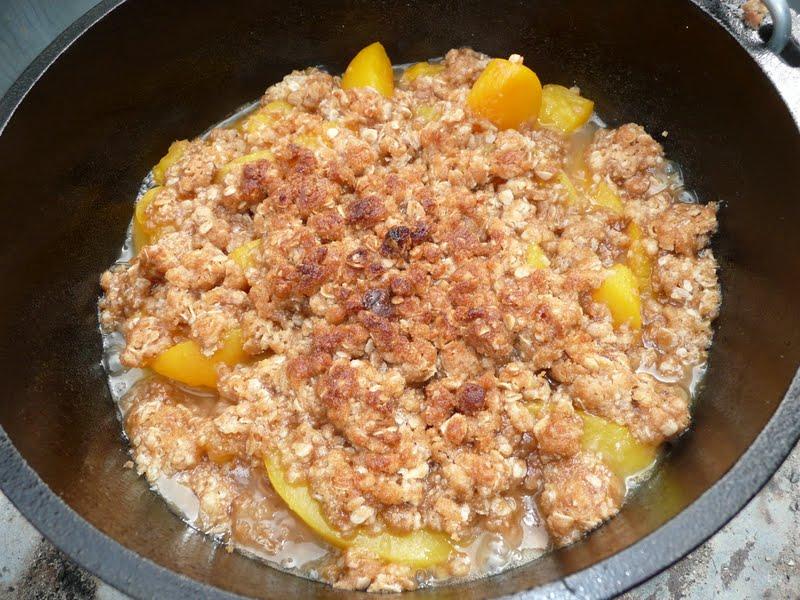 Dutch Oven Peach Cobbler Dump Recipe
