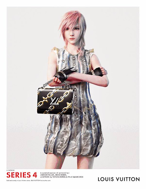 Lightning de Final Fantasy Modelo Virtual en la campaña Primavera Verano Louis Vuitton 2016