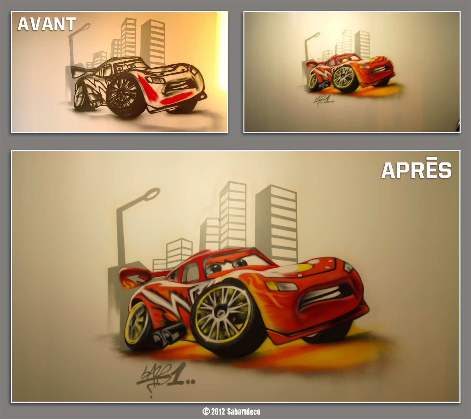 Sabartd co d coration chambre cars 2 - Decoration chambre cars ...
