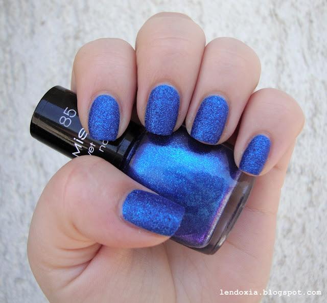 misslyn plavi glitter lak za nokte