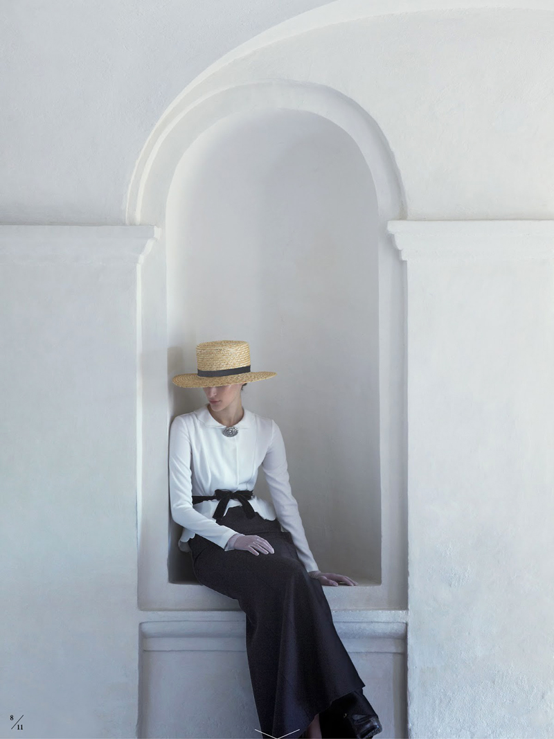 Franzi Mueller wearing Alberta Ferretti in Elle Sweden September 2013 (photography: Julia Hetta, styling: Marcus Soder)