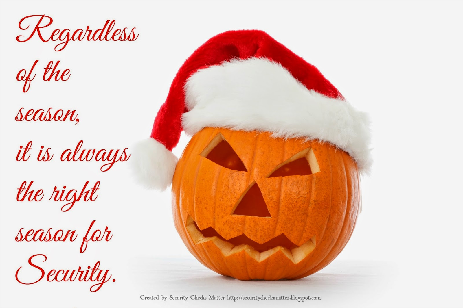 Halloween pumpkin Christmas security poster