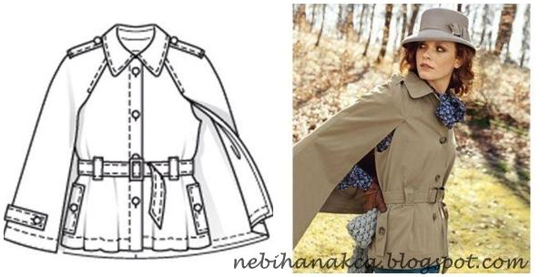 dikiş, moda, tasarım, pelerin, pelerin kalıbı, pelerin modelleri, kırmızı pelerin, mevsimlik tunik, pelerin dikiş, burda dergisi 2010 11 kasım sayısı,