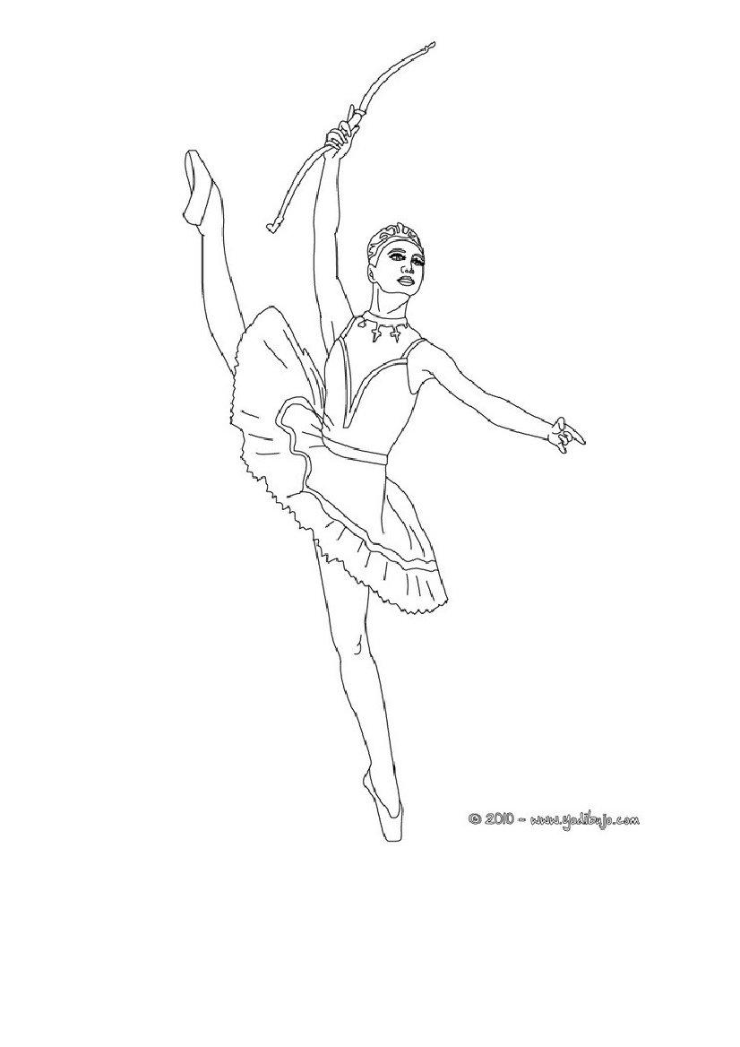 Encantador Páginas Para Colorear De Bailarinas Composición - Dibujos ...