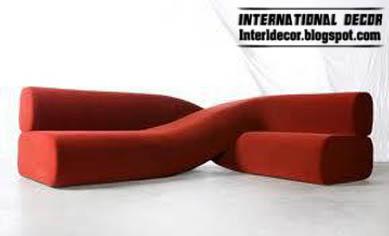 Amazing Sofa Red Design, Modern Red Sofa 2013