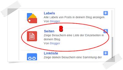Gadget Seiten bei Blogspot hinzufügen