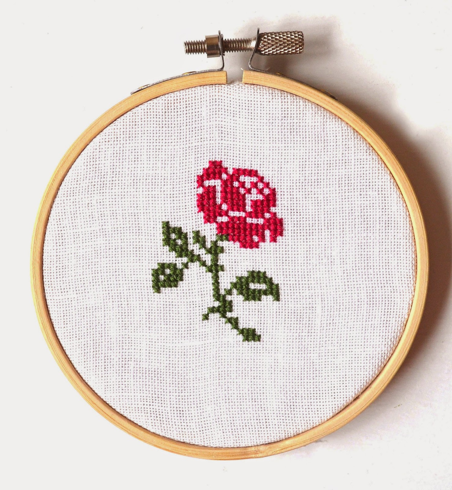 Sew french rose pattern