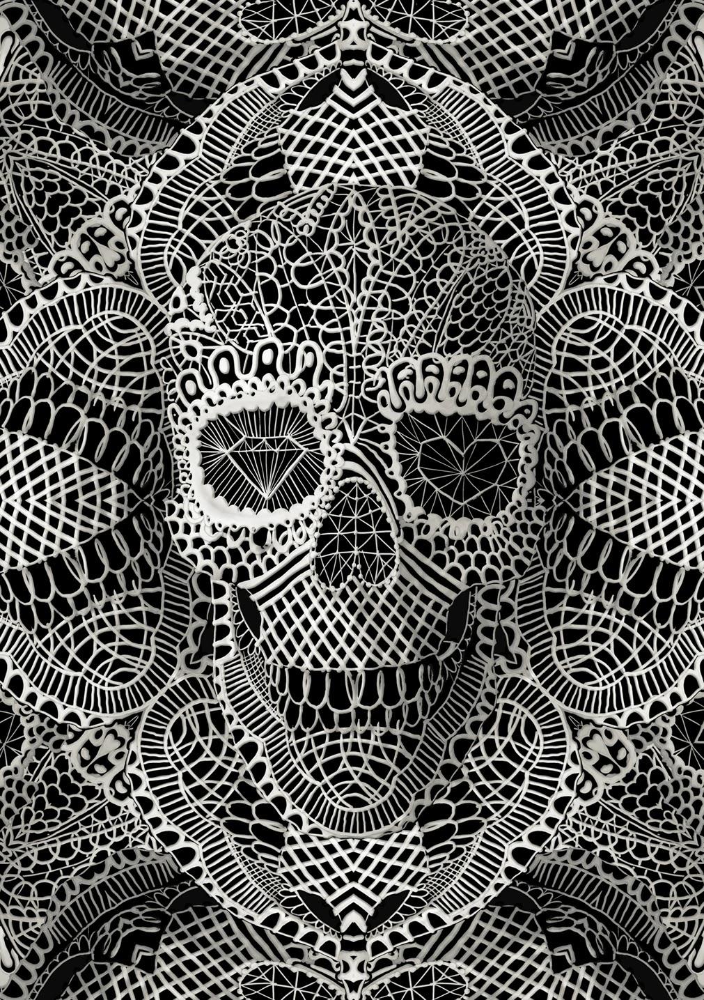 ©Ali Gulec. The Message. Decorative Skulls. Mixed Media
