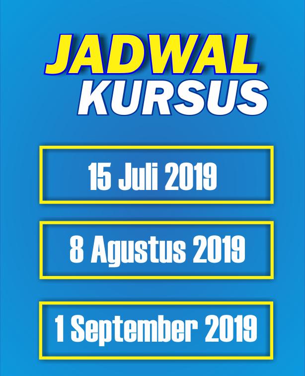 JADWAL KURSUS