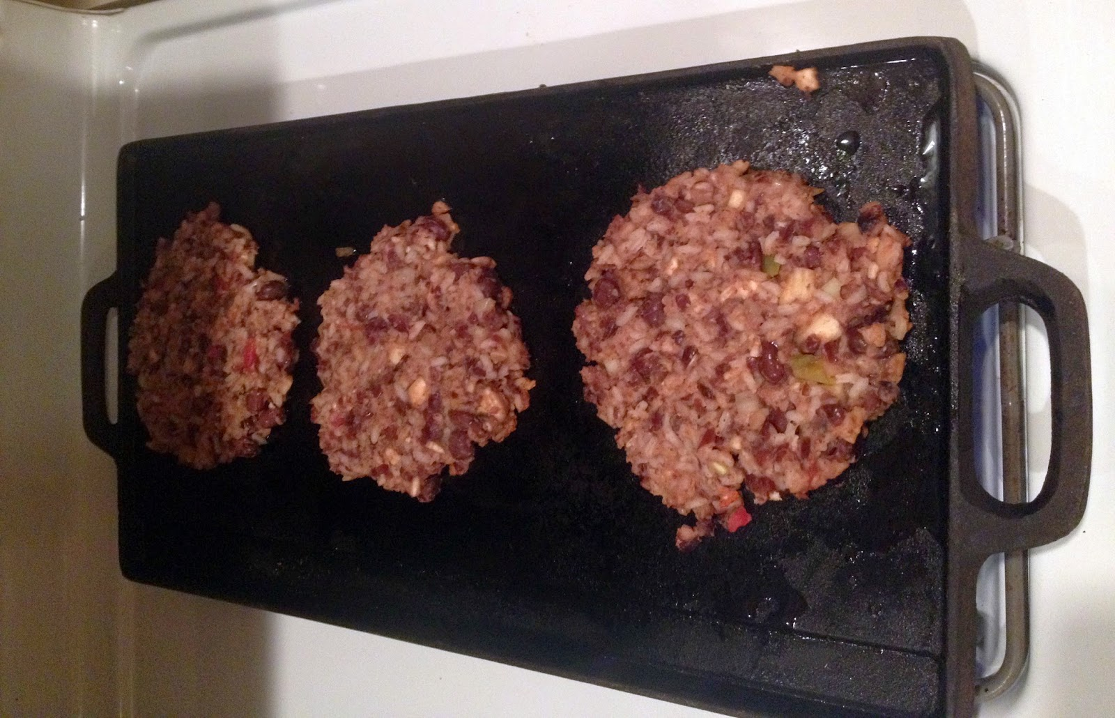 black beans and rice burgers