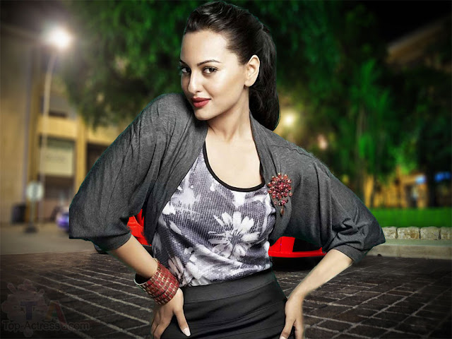 Indian Celebrities Sonakshi Sinha Sexy HD Images 1024x768