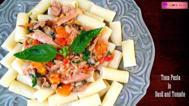 Tuna Pasta in Basil and Tomato