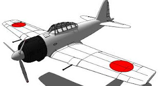 Trimble 3D Warehouse - Mitsubishi Zero Fighter Aircraft